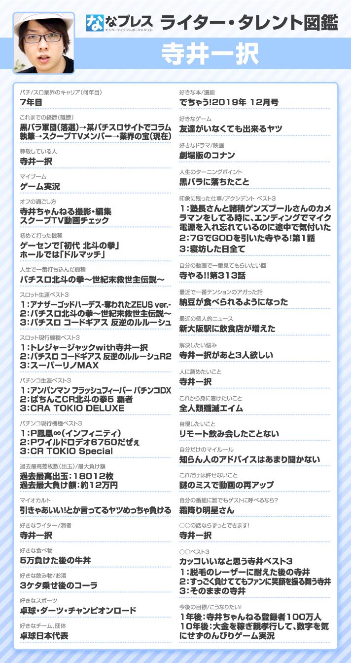 寺井一択 ライター・タレント図鑑