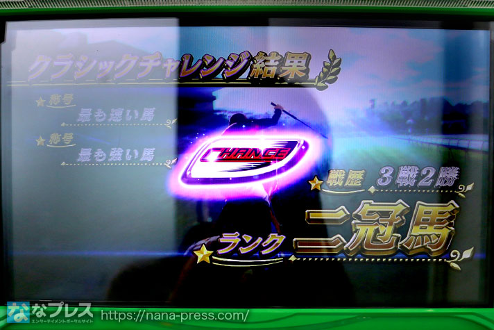 G1優駿俱楽部3 クラッシックチャレンジ結果 戦歴3戦2勝 ランク二冠馬