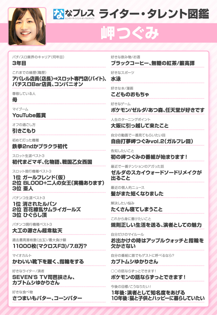 岬つぐみ ライター・タレント図鑑