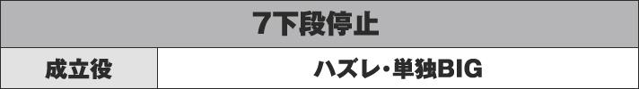 7下段停止 成立役 ハズレ・単独BIG
