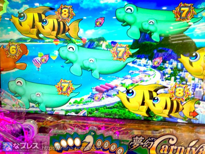 ギンギラパラダイス夢幻カーニバル 7図柄大当たり