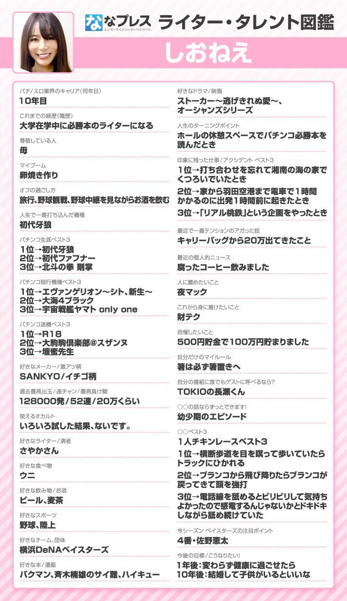 しおねえライター・タレント図鑑