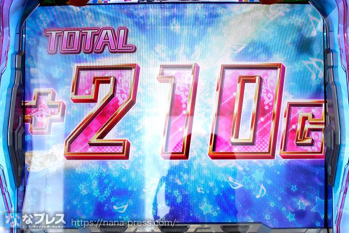 パチスロ アイドルマスター ミリオンライブ! トータル+210G