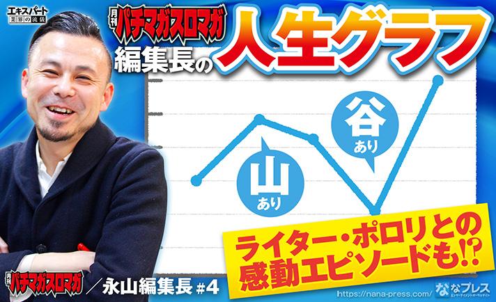 「月刊パチマガスロマガ」の永山編集長と人生グラフを振り返る!ポロリとの感涙エピソードも! eyecatch-image