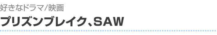 好きなドラマ/映画 プリズンブレイク、SAW