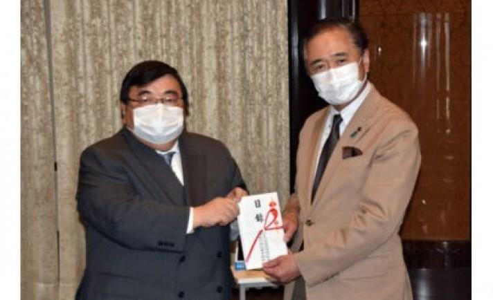 「マスク飲食推奨ポップ」10万個を県に寄贈 神奈川県遊協