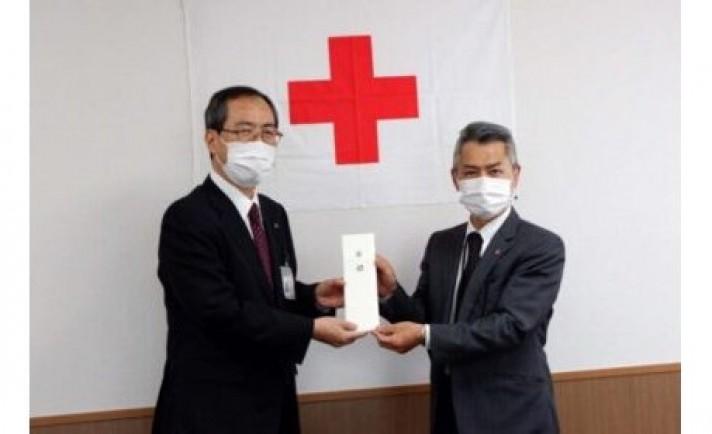 澤田グループ、日赤富山県支部に義援金を預託