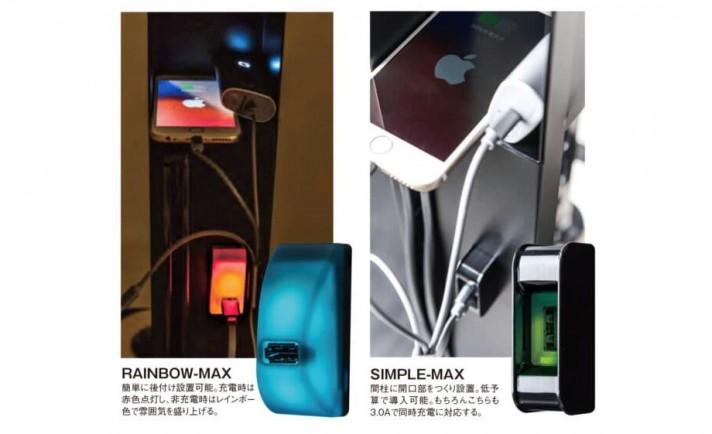 加熱式たばこ専用フロアの「もう一段階の稼働アップ」にこの一手~㈱ゼウス『3.0A急速充電USB』