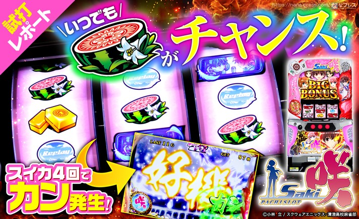 【パチスロ 咲-Saki-試打#2】カンが発動すればいかなる状況でもチャンス到来!