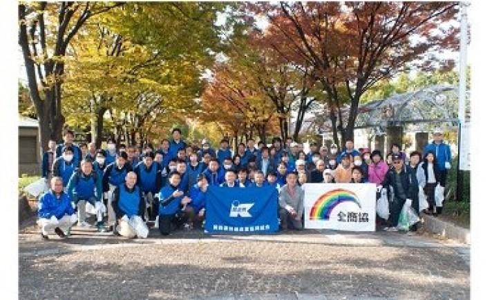 関西遊商が浪速公園の清掃活動を実施