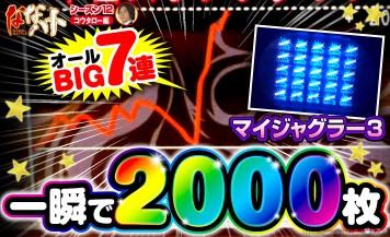 【マイジャグラー3】こんなスランプグラフ見たことない?一撃2000枚のヤバすぎるジャグ連が発生!